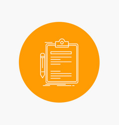 contract check business done clip board white vector image