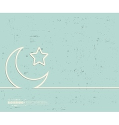 Creative Crescent Islamic Art vector