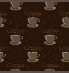 cup of coffee with beans vector image
