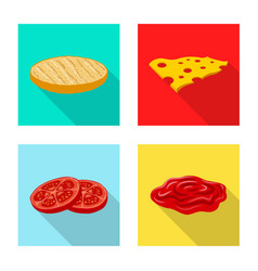 Design of burger and sandwich symbol vector