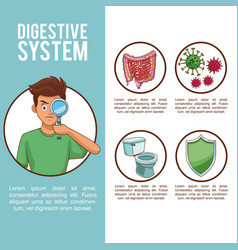 Digestive system concept vector