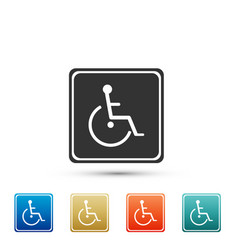Disabled handicap icon on white background vector
