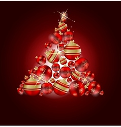 Elegant Christmas Tree card vector image