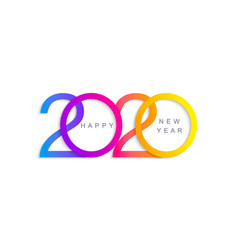 elegant greeting card for happy 2020 new year vector image