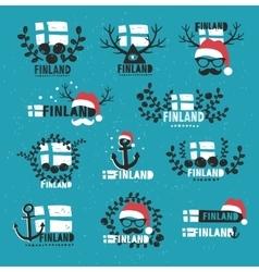 Finland Set of labels vector