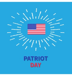 Flag shining effect HPatriot day Blue background vector image