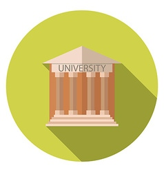 Flat design style concept for University building vector
