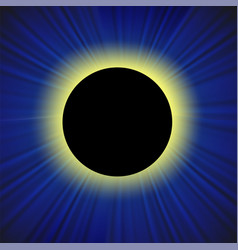 full solar eclipse vector image