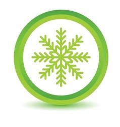 Green snowflake icon vector