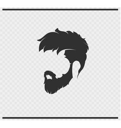 hairstyle icon black color on transparent vector image
