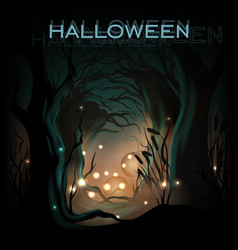 Halloween design template background vector