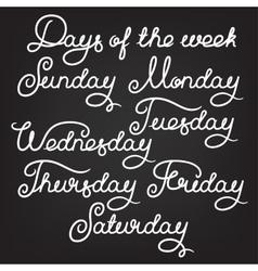 Handwritten days of the week vector