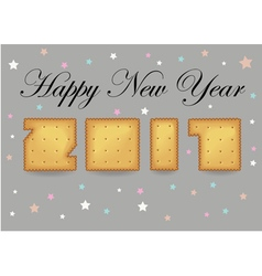 Happy New Year 2017 Crackers font vector