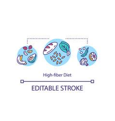 High fiber diet concept icon vector