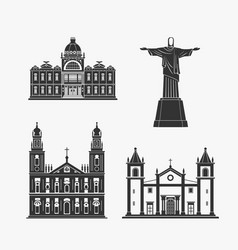historic monument architecture of brazilian vector image