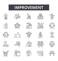 improvement line icons signs set outline vector image