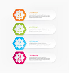 infographic design elements with numbers vector image