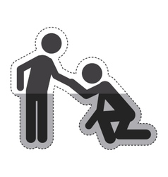 Isolated pictogram couple design vector