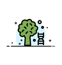 Knowledge dna science tree business flat line vector