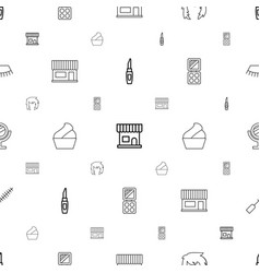 Makeup icons pattern seamless white background vector