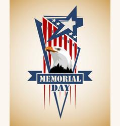 Memorial day card vector