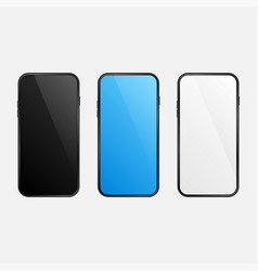 mobile phones set background vector image