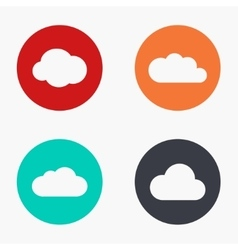 Modern cloud colorful icons set vector
