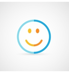 Modern flat icon of funny smile vector