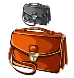 Modern leather briefcase business man vector