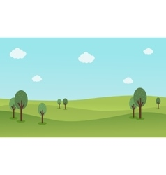 Nature landscape background flat vector image