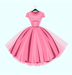 party prom dress with fancy decor vector image