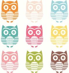 pastel cute owl silhouette owl vector image