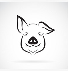 Pig head design on white background farm animals vector