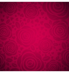 pink background with rose and heart vector image