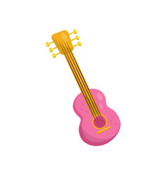 pink ukulele hawaian national musical instrument vector image