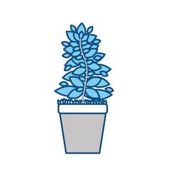 Plant in pot graphic design vector