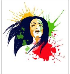 Pop art girl3 vector image