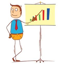 profit presentation vector image