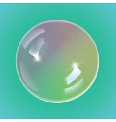 Rainbow soap bubbles vector