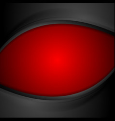 Red and black wavy background vector