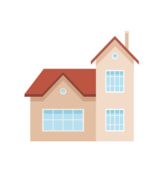 residential house building suburban private house vector image