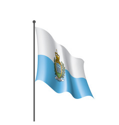 san marino flag on a white vector image