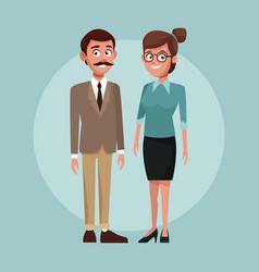 school teachers cartoon vector image