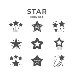 set line icons of star vector image