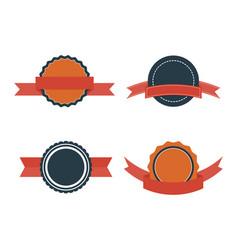 set of flat badges vintage badge labels vector image