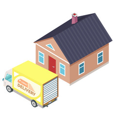 shipping furniture cargo delivery moving vector image