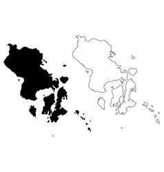 Southeast sulawesi map vector