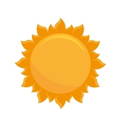 sun bright natural vector image