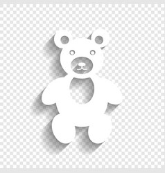 teddy bear sign white icon vector image