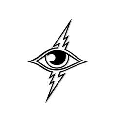 thunder eye art logo template vector image